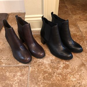 Sam Elelman booties in Chocolate & black Size 10.